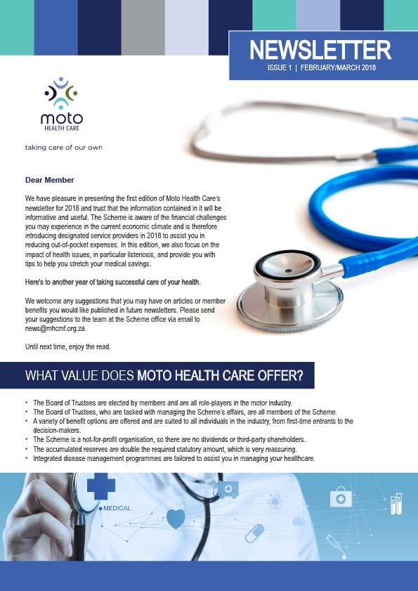 Moto Health Care Newsletter 2018