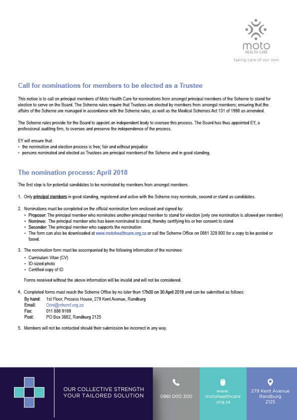 Moto Health Care MHC-Nomination-Notice-Apr2018